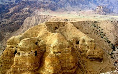 Dead Sea Scrolls in caves in Wadi Qumran